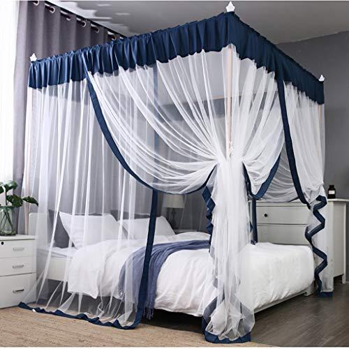 CHANG XU DONG SHOP 4 Ecken Prinzessin Bett Vorhang DREI Tür Moskitonetz Baldachin Baldachin Für Mädchen Jungen Erwachsene Bett Geschenk (Farbe : 1.5 m (5ft))