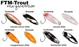 4 FTM Spoon Tango 1,8g - Forellenblinker zum Spinnfischen, Forellenköder zum Spinnangeln, Blinker für Forellen, Löffelblinker