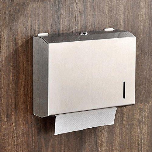 WTL Support de papier toilette Boîte en papier en acier inoxydable Boîte en papier à serviette en acier inoxydable Porte-serviettes en papier imperméable en acier inoxydable