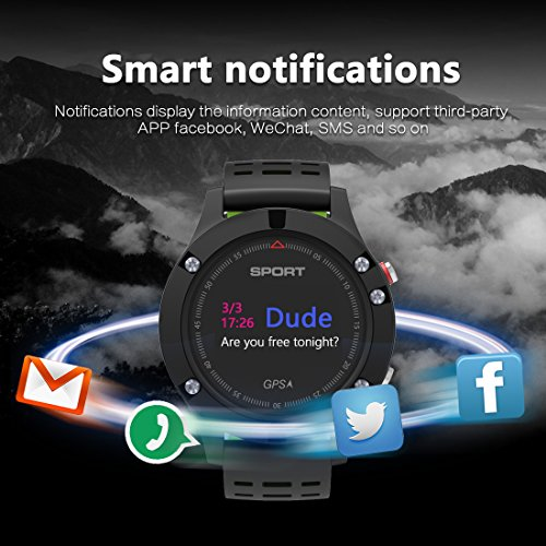 51LuatzTo3L. SS500  - Smart watch,Sports Watch with Altimeter/ Barometer/Thermometer and Built-in GPS , Fitness Tracker for Running,Hiking and Climbing ,IP67 Waterproof Heart Rate Monitor for Men, Women and Adventurer.