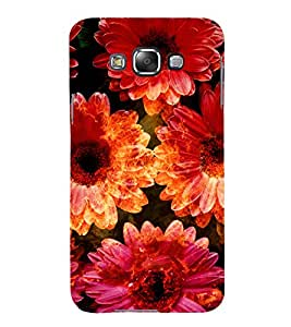 iFasho Flowers Back Case Cover for Samsung Galaxy E7