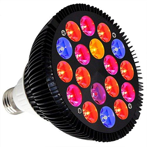 Niello 36W E27 LED Pflanzenlampe Birne Licht Wachstum Vollspektrum 18 LEDs Grow Lamp für...
