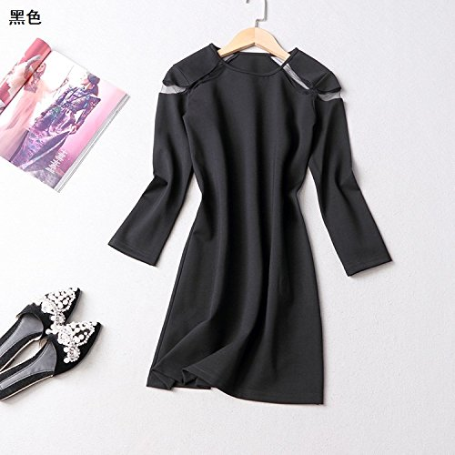 Farbe Kleider Werkseitig Zu Niedrig Preis Weiblich [L Code] [Schwarz] ()