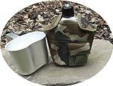 Aluminium Feldflasche inkl. Trinkbecher mit langem Griff, Woodland