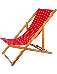 2er Set Holz Campingstuhl Strandstuhl Strandliege Liegestuhl Klappbar Gartenliege Sonnenliege Campingstuhl