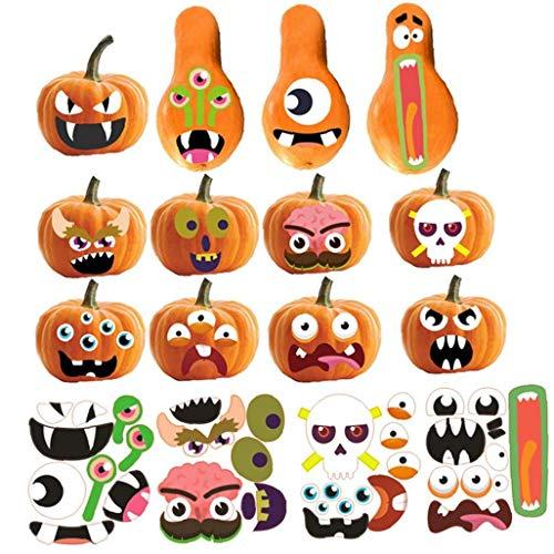 BYFRI 1 Satz Partei DIY Dekorationen Halloween-Bevorzugungen Aufkleber Süßes Oder Saures Kürbis-Aufkleber Für Selbstklebende Etiketten Dichtung Dekoration