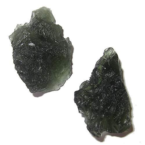 SatinCrystals Meteorit Moldavit Meditations-Edelsteine aus Chlum, Tschechische C62 - Messengers 3,2 cm Trek Messenger