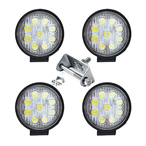 VINGO®4x 27w LED Arbeitsbeleuchtung Runde Offroad Scheinwerfer LKW Man Zubehör Weiß Strahler 10-30V