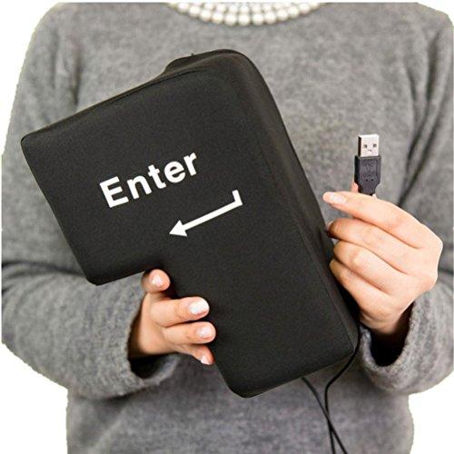 DOLDOA USB Große Eingabetaste Tabelle Kissen,Home USB Knopf Office Schaum Nickerchen Kissen Schlot Werkzeug Periphere Schlüssel (Eingabetaste Kissen)