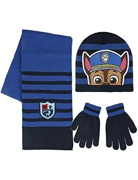 Cerdá Paw Patrol, Set de Bufanda, Gorro y Guantes para Niños, Azul (Azul 001), One Size (Tamaño del fabricante...