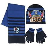 Paw Patrol 2200-2447 Set 3 Pezzi, Coordinati Invernali, Cappello, Sciarpa, Guanti, Bambino, Multicolore, Chase