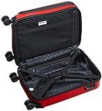 HAUPTSTADTKOFFER – X-Berg – Handgepäck Koffer Hartschalen-Koffer Kabinen-Trolley Rollkoffer Reisekoffer, 4 Rollen, TSA, 55 cm, 42 Liter, Rot matt - 5