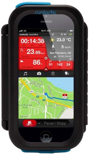 Runtastic RUNCAI1B Fahrradhalterung Bike Case für Apple iPhone 4 schwarz
