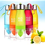 icase4u 800ml frutas Fuzer Infusing Infuser botella de agua deporte salud zumo eléctrica, rosa