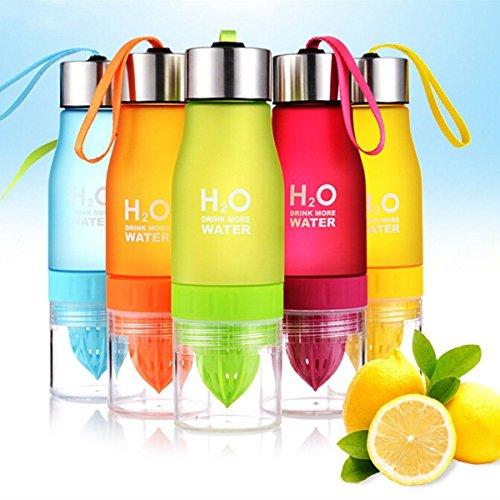 Fuzer Infusing Infuser Water Bottle Sport Health Juice Maker (pink ) (Gelb) (Infuser Trinkflasche Gelb)