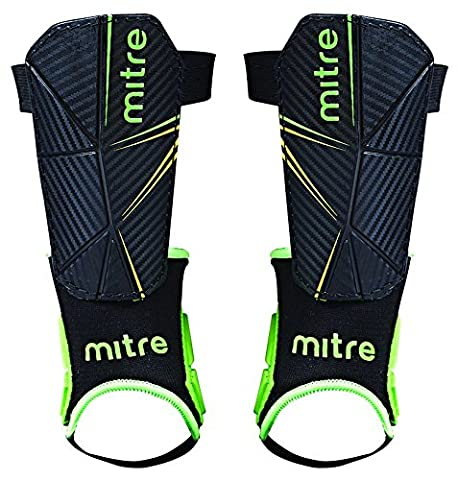 Mitre Delta Ankle Protect Football Shin Pads - Small