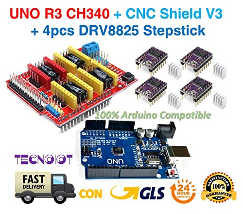 PACK 3D PRINTER - UNO R3 + CNC Shield V3 Expansion Board + 4pcs DRV8825 Stepper Motor Driver