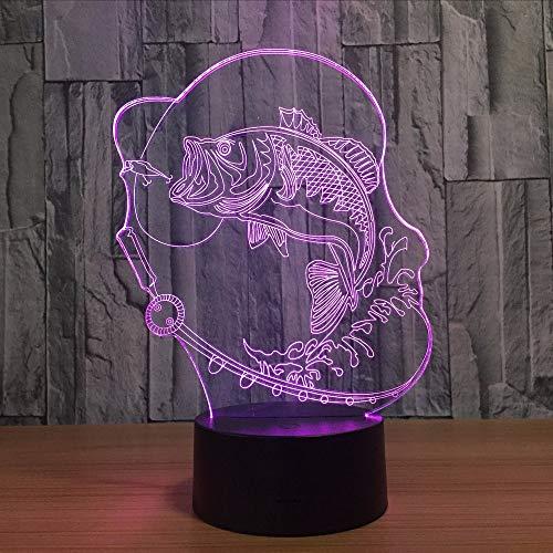 Gwgdjk Blase Fisch 3D Led Lampe 7 Farbwechsel Usb Charge Touch Button Tischlampen Erstaunliche Geschenke Für Kinder Lava Lampe Baby Zimmer Lampe Decor