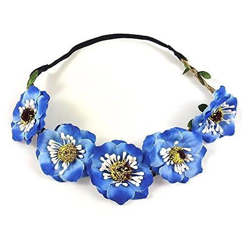 rougecaramel - Accessoires cheveux - Headband couronne de fleurs mariage