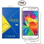 """[2 Pack] Pellicola Vetro Temperato La pellicola in vetro temperato per """"Samsung Galaxy Grand Prime G530 / G530H / G530F /G530FZ / G531F / G531"""" viene realizzata con un processo chimico, che assicura massima protezione da urti e graffi. La confezione ..."""
