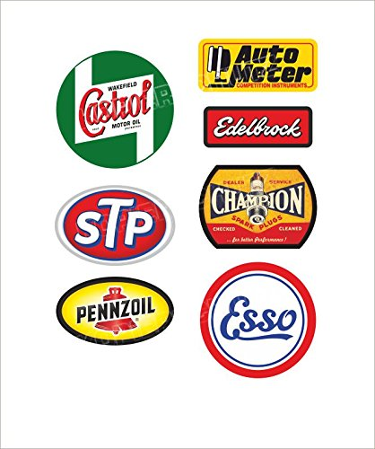 557-set-castrol-stp-edelbrock-pennzoil-autocollant-sticker