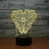 Abstrakte Grafiken Nachtlicht 3D Optische Täuschung Kinderzimmer Led Nachttisch Lichter Mit Fernbedienung 7 Farben Wandleuchten Schlafzimmer Dekor Geschenkideen Geburtstagsgeschenk