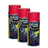 3X DUPLI-Color Brake CALIPPER Spray Red BREMSSATTELLACK-Spray ROT EFFEKTLACK 150