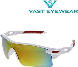 Vast Uv Protection Unisex Sports Sunglasses (9181C9|Gold Mirror Lens)