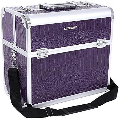 Songmics® Beauty Case Nail Art Valigia 36,5 x 22 x 35 cm Cofanetto Porta Gioie Smalti Oggetti JBC229