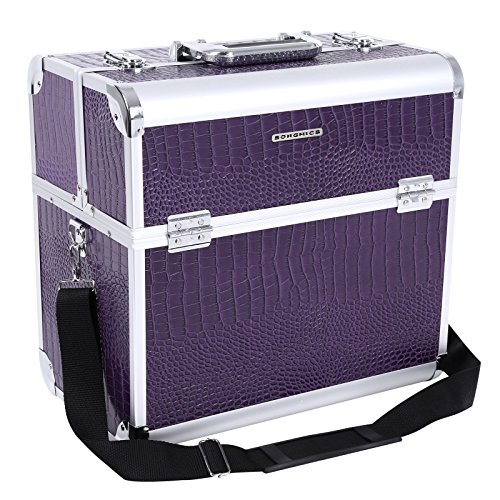 Songmics alu croco Beauty Case Kosmetikkoffer Schminkkoffer JBC229