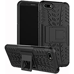XINYUNEW Funda Huawei Y5 2018, 360 Grados Protective+Pantalla de Vidrio Templado Caso Carcasa Case Cover Skin móviles telefonía Carcasas Fundas para Huawei Y5 2018-Negro