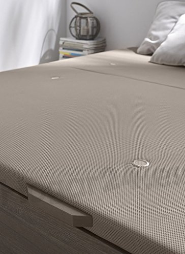 Hogar24.es 3D- Canapé abatible de madera de gran capacidad tapa 3D transpirable color roble vintage