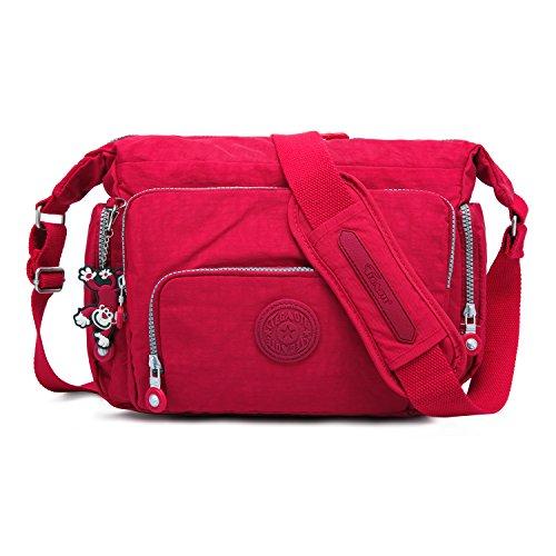 Foino borsa tracolla donna borsa sportiva borse a spalla leggero sacchetto design borsello moda borsetta scuola borse da viaggio tasca libri vintage messenger bag