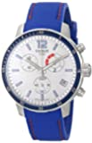 Tissot Men's 42mm Blue Silicone Band Steel Case S. Sapphire Swiss Quartz White Dial Watch T0954491703700