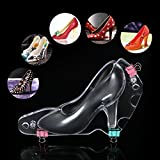 Decdeal 3D High Heel Shoe DIY Fondant Cake Mold Sugar Chocolate Candy Template Molds Cake Decoration Baking Tool (Type 1)