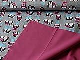 Swafing Nano Softshell Programm Sheldon Pinguine Grau/Beere