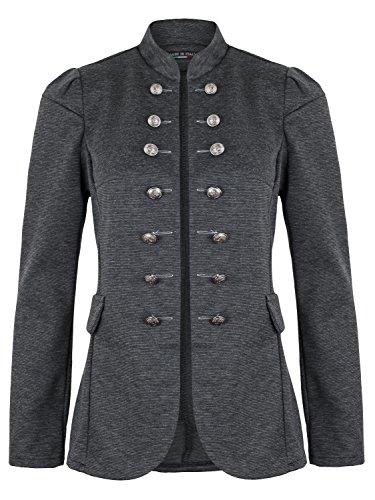 Damen Blazer Militäry Style ( 513 ), Farbe:Grau, Blazer 1:42 / XL