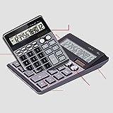MLL Calcolatore doppio magazzino ufficio negozio di calcolatrice vocale IC,grigio