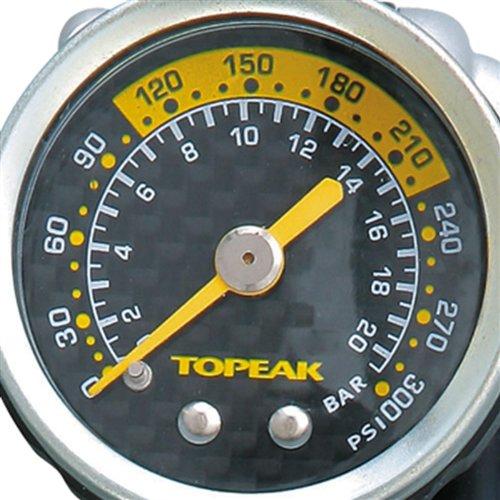 TOPEAK Pocket Shock Die Die Pocketshock Dxg Ist Eine Präzise Mini-dämpfer-pumpe Mit Analogen Manometer Aus Karbon. Sie Lässt Sich Einfach In Der Trikot- Oder Satteltasche Verstauen, Black, One Size
