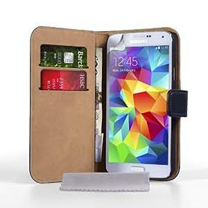 Caseflex Etui en cuir pour Samsung Galaxy S5 Noir