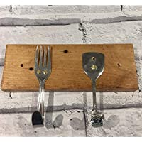 Cutlery Coat Hooks - Set of 2 - Different mixed designs, Wall Hooks, Upcycled Forks and Spoons
