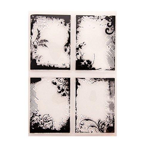 Wiffe Rahmen klar Silikon Siegelmarken für DIY Album Scrapbooking Foto Karte Dekor (Rahmen Clear Stempel-set)