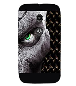 PrintDhaba Devil'a Eye D-2669 Back Case Cover for MOTOROLA MOTO E2 (Multi-Coloured)