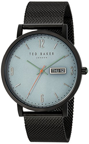 Ted Baker Men's 'GRANT' Quartz and Stainless-Steel-Plated Casual Watch, Color:Black (Model: TE15196014)