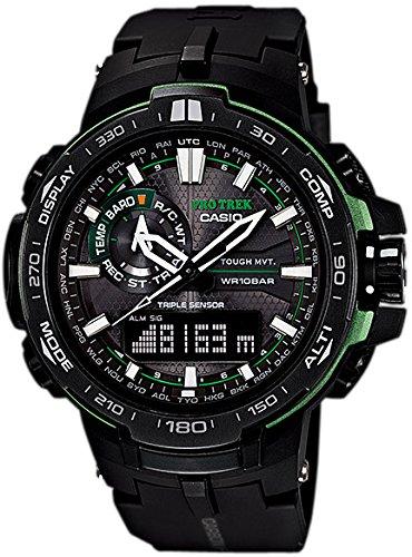 Casio Herren MultiZifferblatt Solarbetrieben mit Resin Armbanduhr PRW6000Y1AER