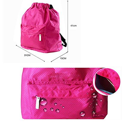 zhongshanxy Unisex Sport Tasche Kordelzug Tote Cinch Sack Rucksack Tasche Sack Pack Packsack Grün