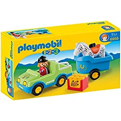 Playmobil - Coche con remolque (69580)