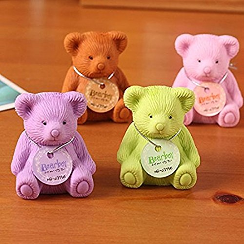 Sshakuntlay® Teddy Bear Erasers with Sharpener Backpack Style for Birthday Party Return Gift (Pack of 12)
