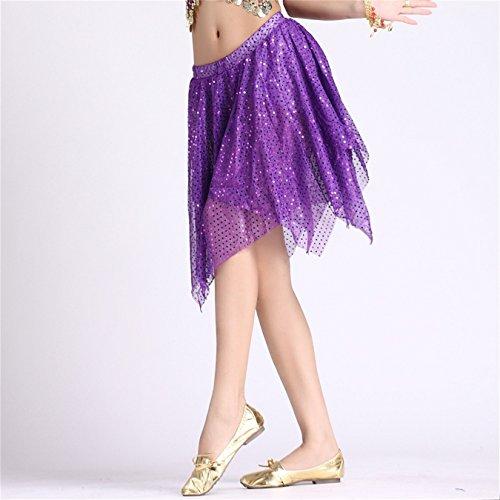 Damen Tanzkleidung Bauchtanz Rock Tribal Shiny Tanzen Kost¨¹me Dark Purple