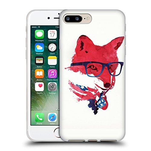 Offizielle Robert Farkas Grass Schwarz Fuchs Soft Gel Hülle für Apple iPhone 5 / 5s / SE Amerikanisches Fuchs